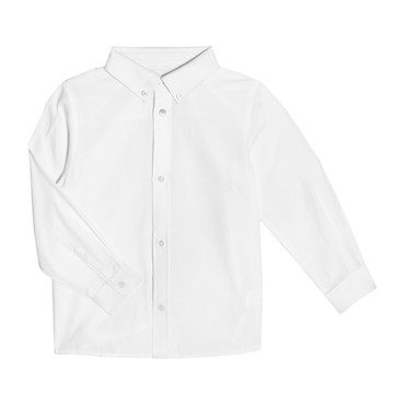 Lucas Long Sleeve Button Down, White