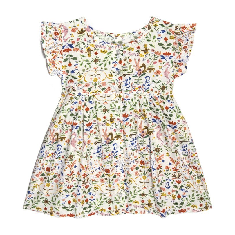 Lu Lu Ruffle Top, Flowers & Rabbits