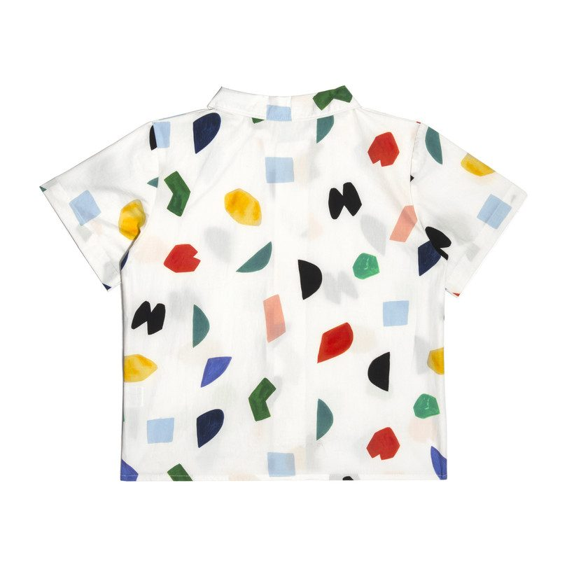 Ollie Short Sleeve Button Down, Abstract Shapes