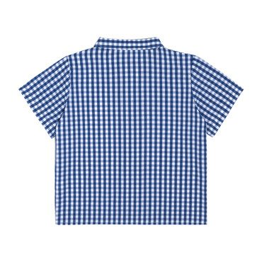 Ollie Short Sleeve Button Down, Royal Gingham