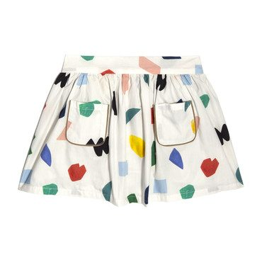 Vivian Skirt & Bloomer, Abstract Shapes