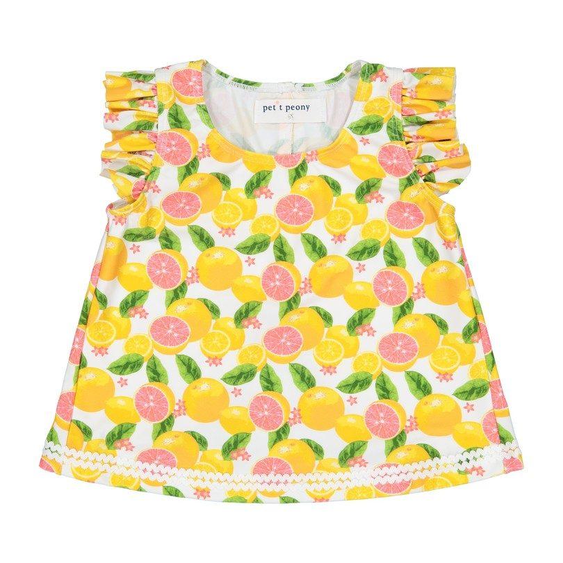 Swingback Swimsuit, Citrus Print