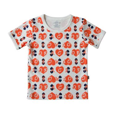 Ace of Hearts Ringer Tee, Red