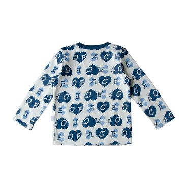 Ace of Hearts Top, Blue
