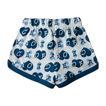 Ace of Hearts Shorts, Blue