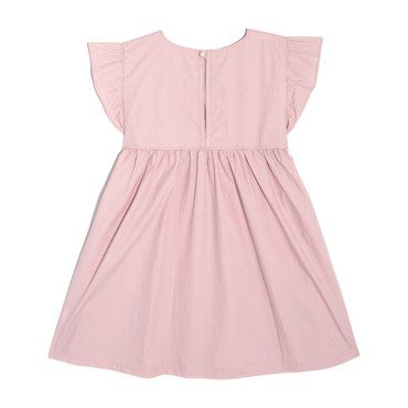 Charlotte Ruffle Sleeve Dress, Blush Cotton Poplin