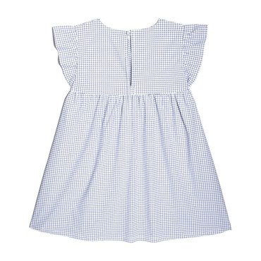 Charlotte Ruffle Sleeve Dress, Blue Check
