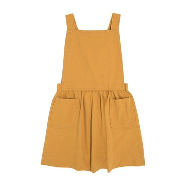Millie Overall Dress, Marigold Twill