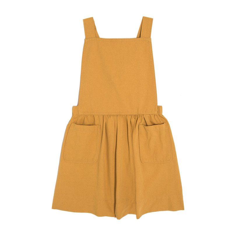 Millie Overall Dress, Marigold Twill