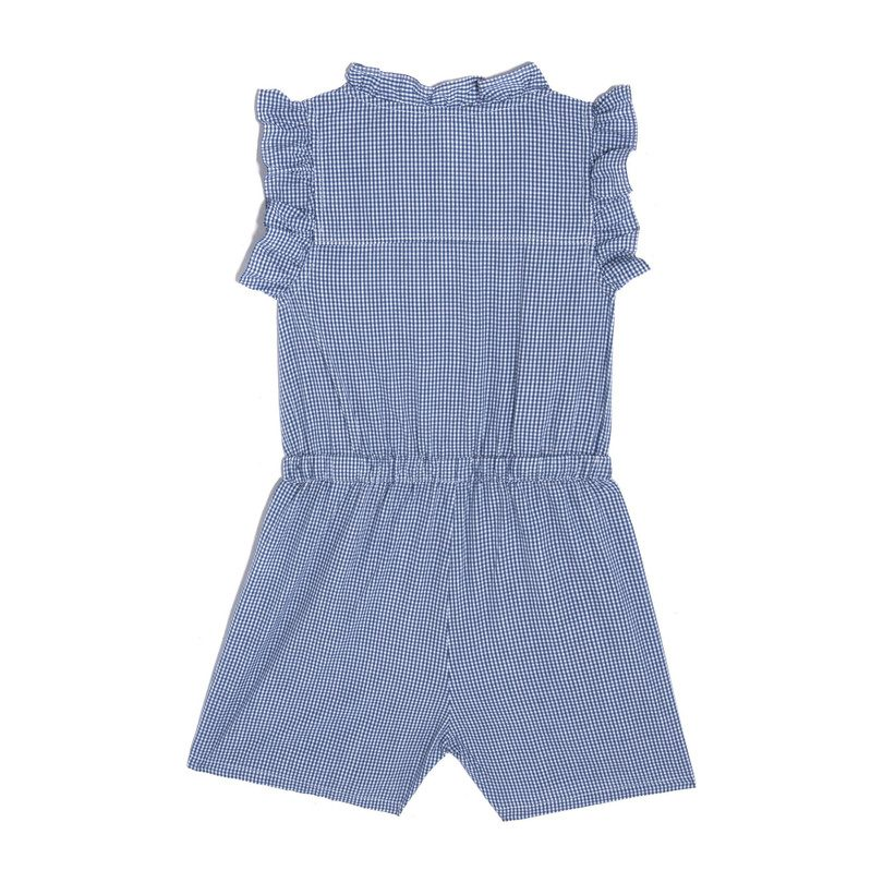 Mariella Romper, Mini Royal Gingham