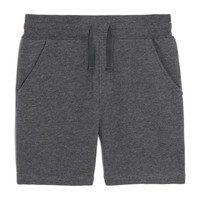 Teddy Jogger Short, Charcoal Grey