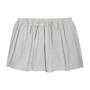 Vivian Skirt & Bloomer, Black & White Check