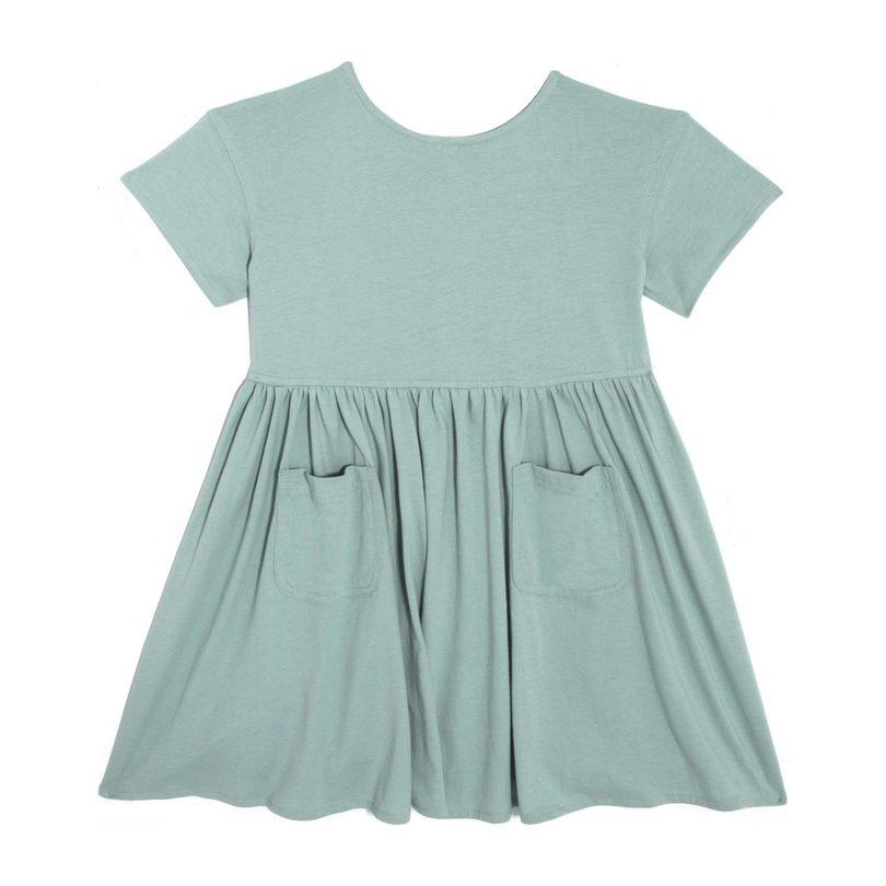 Delphine Short Sleeve Pocket Dress, Mint