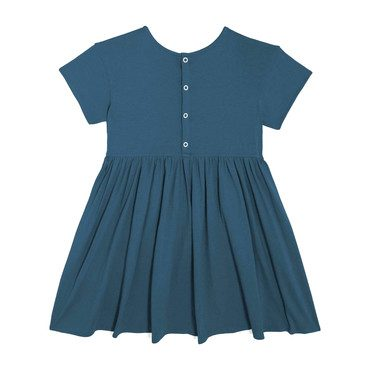 Delphine Short Sleeve Pocket Dress, Peacock Blue