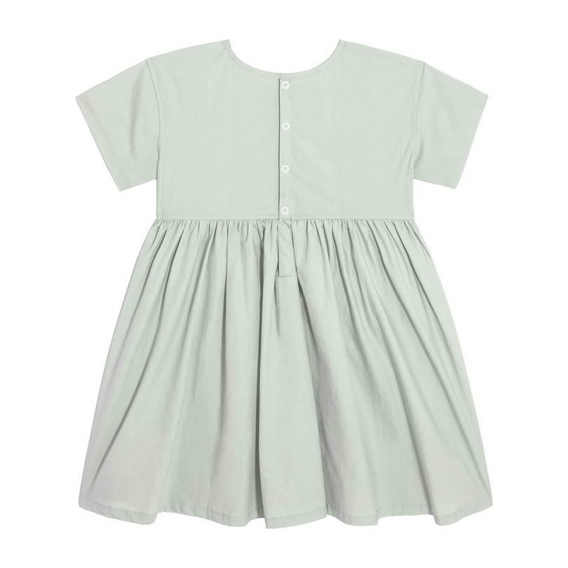 Gracie Dress, Mint Cotton Poplin