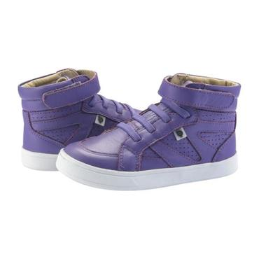 Child Starter Shoes, Lavender Purple With White Soles