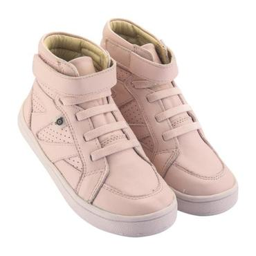 Child Starter Shoes, Powder Pink With Pink Soles