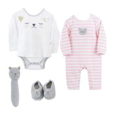 Baby Gift Set, Striped Kitten