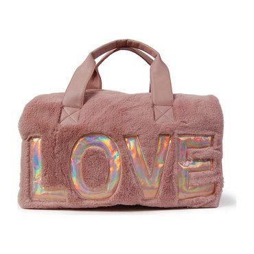 Love Faux Fur Duffle Bag