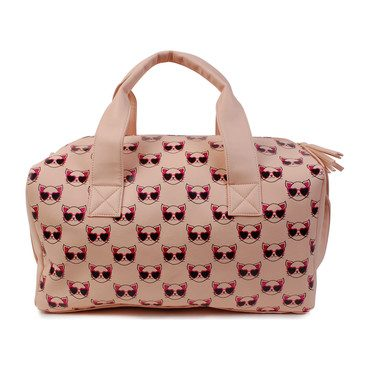 Cool Kitty Print Duffle Bag