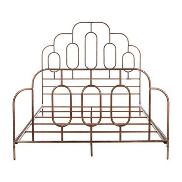 Paloma Metal Retro Bed, Bronze