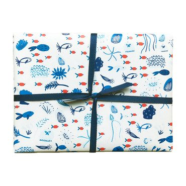 Set of 3 Underwater Gift Wrap Sheets