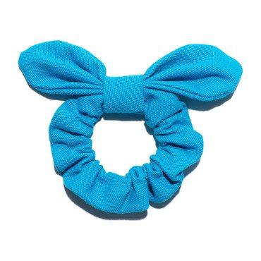 Azure Blue Woven Scrunchie