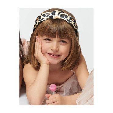 *Exclusive Petite Leopard Silk Headband