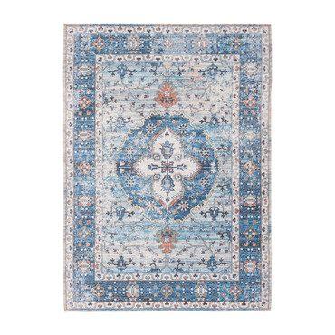 Thea Saffron Rug, Blue Multi