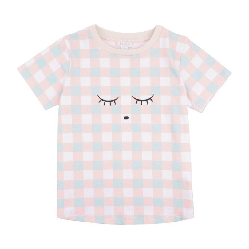 Tee Shirt, Pink Plaid