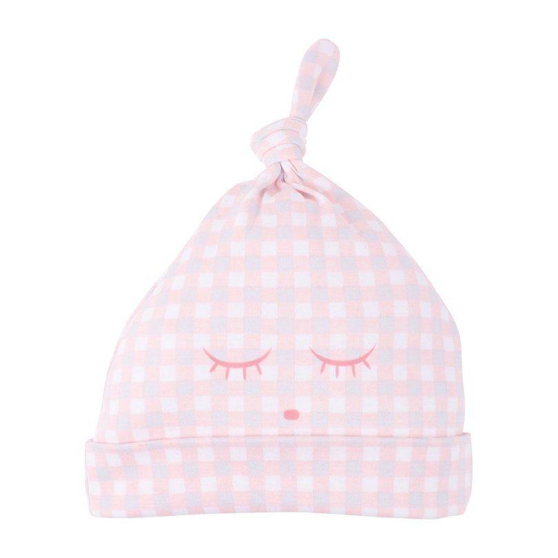 Tossie Hat, Pink Plaid