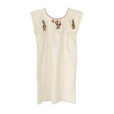 Women's Cactus Mini Dress, Ivory