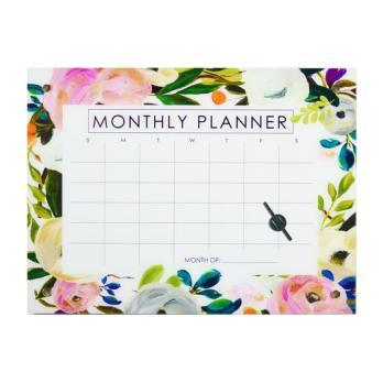 Monthly Planner Dry-Erase Board, Spring Glass