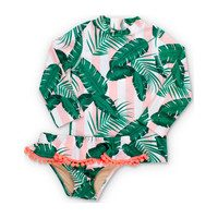 Pink Cabana Botanical Rashguard Set