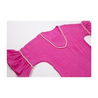 Bell Sleeve Gauze Coverup, Pink