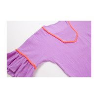 Bell Sleeve Gauze Coverup, Purple