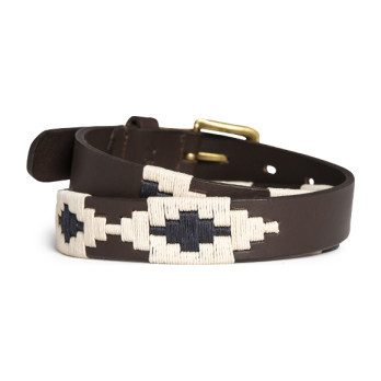 *Exclusive* Kids Prince William Polo Belt, Navy & Light Khaki