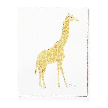 "Giraffe Original Watercolor, 11"" x 14"""