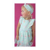 Muslin Ruffle Sundress & Diaper Cover, Flamingo