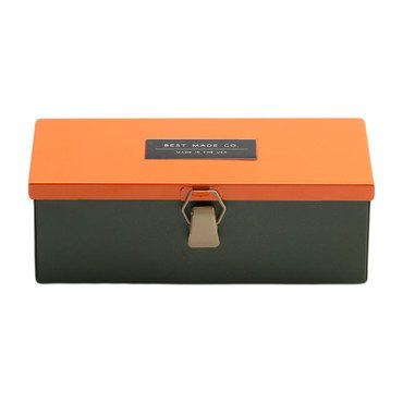 "The 9"" Multicolored Strongbox, Orange"