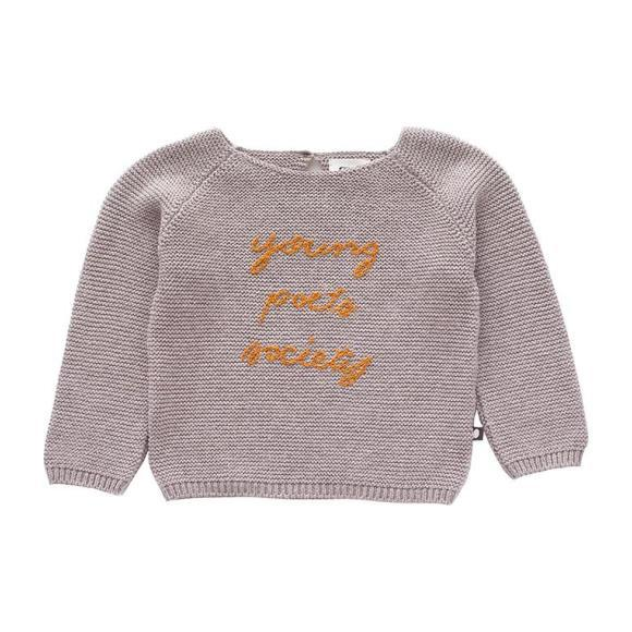 Oeuf Baby And Child Poets Sweater Light Grey