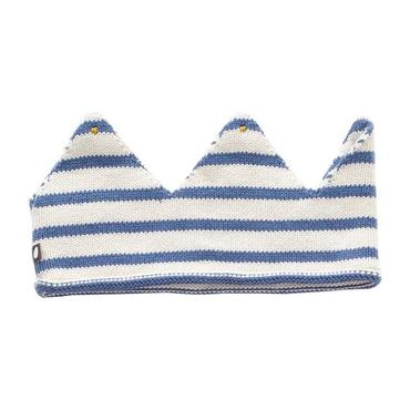 Oeuf Baby And Child Crown Blue And White Stripes