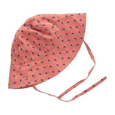 Oeuf Baby Summer Hat Rust Pink With Tulip Print