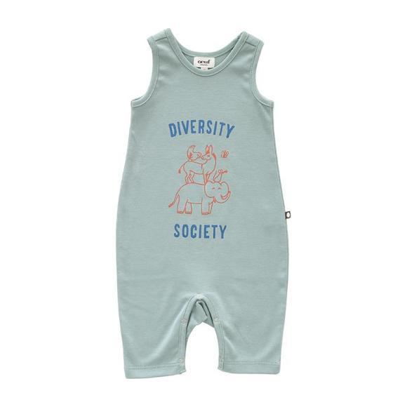 Oeuf Baby Diversity Sleeveless Jumpsuit Jadeite Green