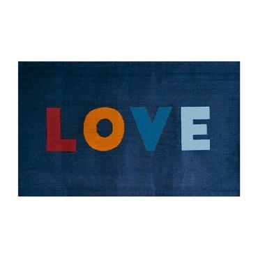 Oeuf Love Rug Navy Blue 3' x 5'
