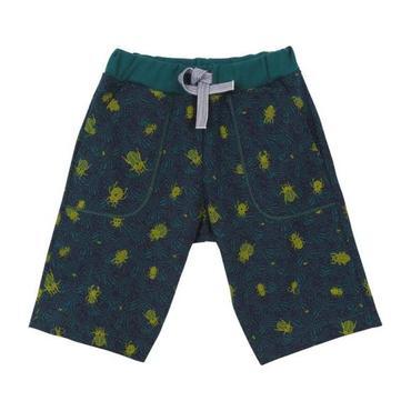 Petit Bateau Child Bermuda Shorts Teal Blue With Beetle Print