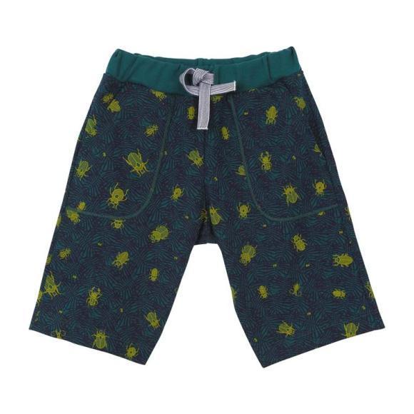 606516ef55 Petit Bateau Child Bermuda Shorts Teal Blue With Beetle Print ...