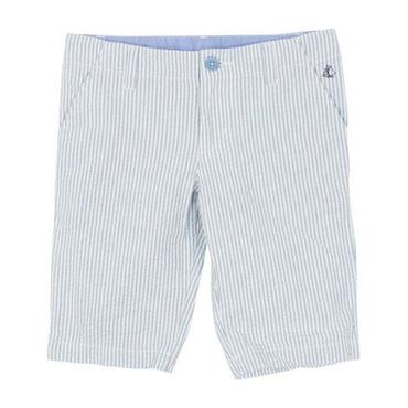 Petit Bateau Child Seersucker Shorts Blue And White Stripes