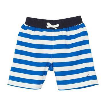 Petit Bateau Child Swim Shorts Blue And White Stripes