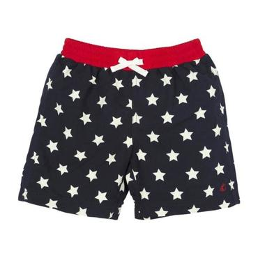 Petit Bateau Child Swim Shorts Navy Blue With White Star Print